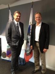 Fabrice Causero et Michel Gigault respectivement Président et Vice-Président du Conseil d'administration de l'ENIM
