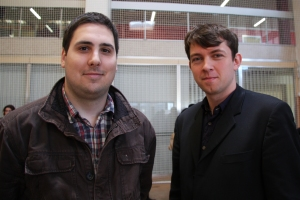 Jeremy Arnould et Pierre Schellwat, élèves-ingénieurs en formation par apprentissage à l'ENIM