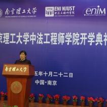 Discours de Huifen Wang, représentante des enseignants de l'ENIN