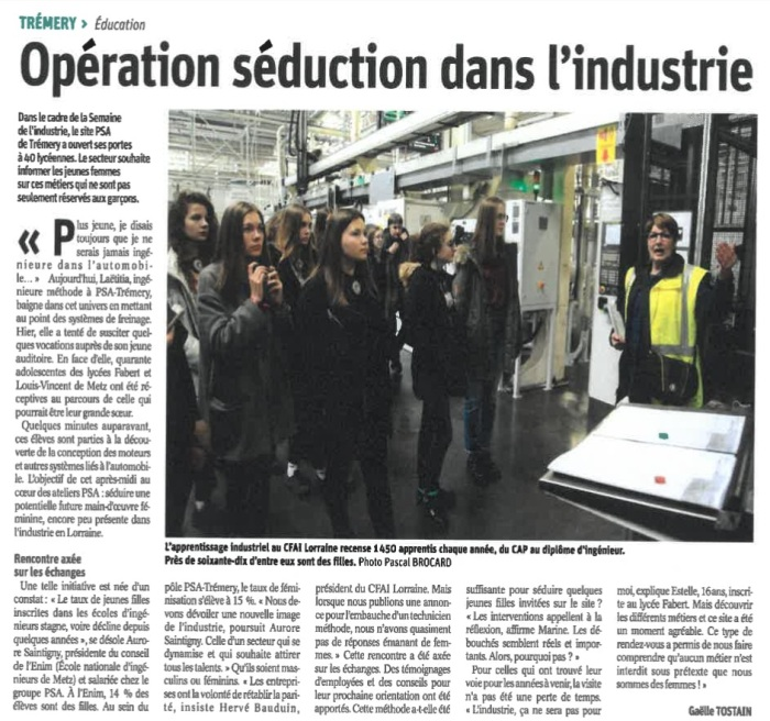PSA - Article du journal