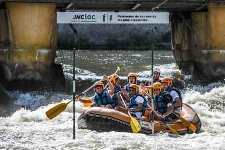 Sortie rafting sur la Moselle à Metz en partenariat avec le SDIS57